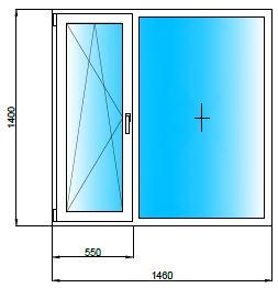 Окна 43, пластиковые окна п-43, размеры, цены.
