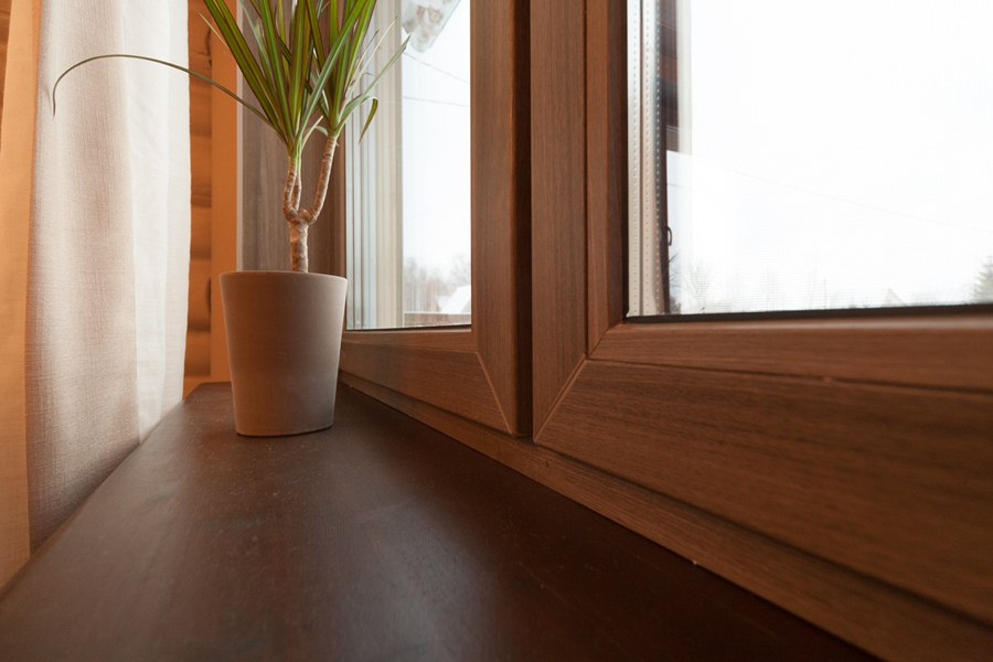 Ламинированные окна в интерьере