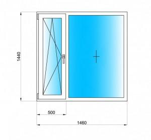 Схема ламинированного окна