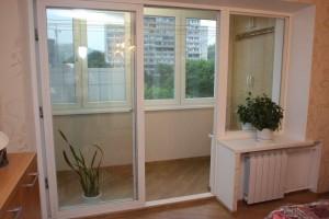 Французские окна выход на лоджию пример 2