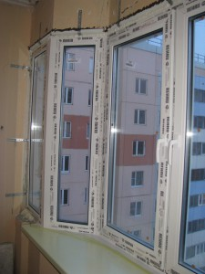 Монтаж окон балкон