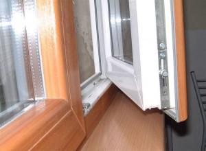 ламинированное окно изнутри