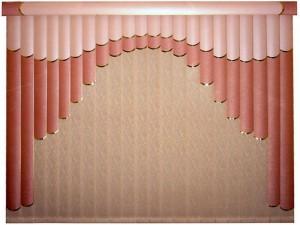 Вертикальные розовые жалюзи