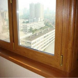 Ламинированные окна золотой дуб